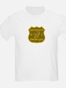 Court Reporter Drinking League T-Shirt