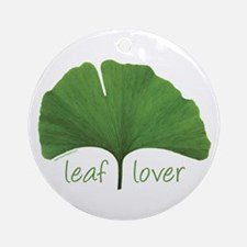 Leaf Lover Ornament (Round)