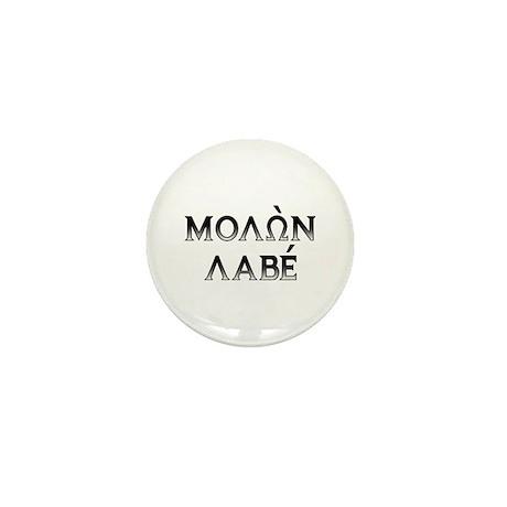 Molon Labe: Mini Button x10 (dark block)