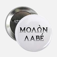 """Molon Labe: 2.25"""" Button (dark block)"""