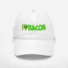 I Love-Alien Bacon Baseball Baseball Cap