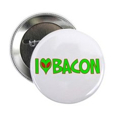 "I Love-Alien Bacon 2.25"" Button"