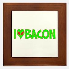I Love-Alien Bacon Framed Tile