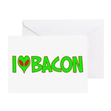 I Love-Alien Bacon Greeting Card