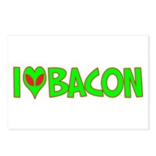 I Love-Alien Bacon Postcards (Package of 8)