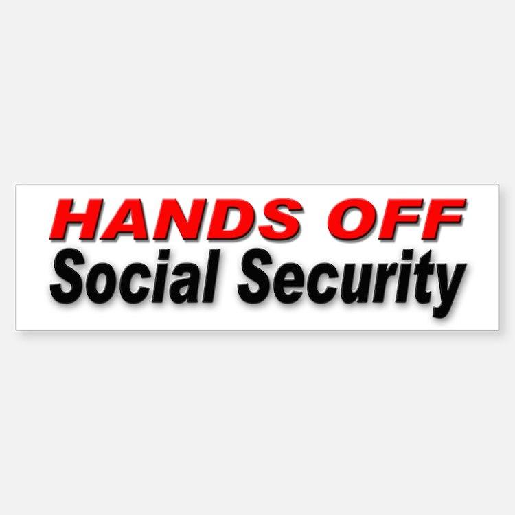 Hands Off Social Security Bumper Bumper Bumper Sticker
