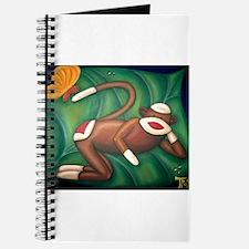 Leaf Sock Monkey Journal
