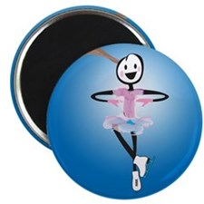 "Holiday Skater 2.25"" Magnet (10 pack)"