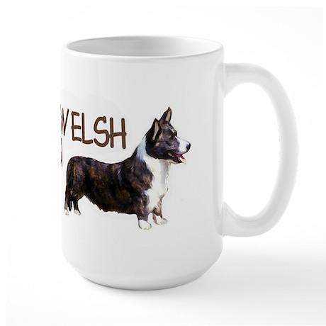 cardigan welsh corgi Large Mug