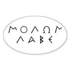 Molon Labe (Script): Oval Decal