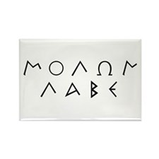 Molon Labe (Script): Rectangle Magnet