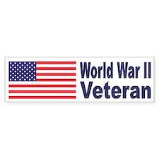 World War II Veteran Bumper Car Sticker