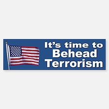 Stop Terrorism Patriotic Flag Bumper Bumper Bumper Sticker