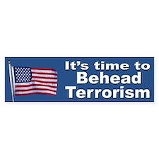 Stop Terrorism Patriotic Flag Bumper Bumper Sticker
