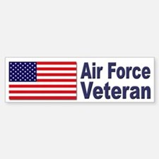 Air Force Veteran Bumper Car Car Sticker