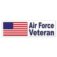 Air Force Veteran Bumper Car Sticker