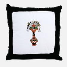 African Artifact Throw Pillow