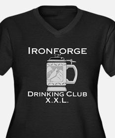 Ironforge Drinking Club Women's Plus Size V-Neck D