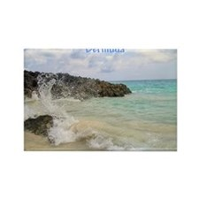 Pink Sandy Beach in Bermuda - Rectangle Magnet