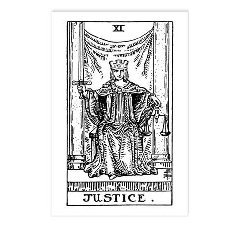 Justice Tarot Card Postcards (Package of 8)