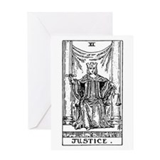 Justice Tarot Card Greeting Card