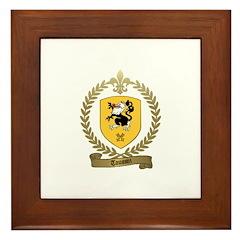 TOUSSIN Family Crest Framed Tile