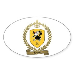 TOUSSIN Family Crest Oval Decal