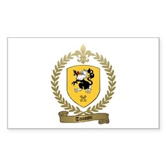 TOUSSIN Family Crest Rectangle Decal
