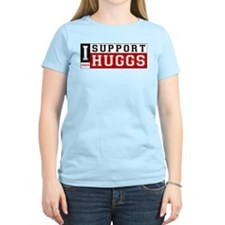I Support Huggs Women's Pink T-Shirt