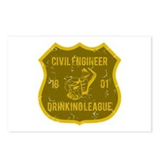 Civil Engineer Drinking League Postcards (Package