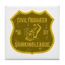 Civil Engineer Drinking League Tile Coaster