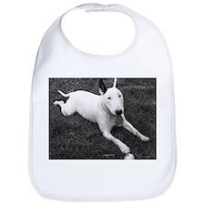 Playful Bull Terrier Bib