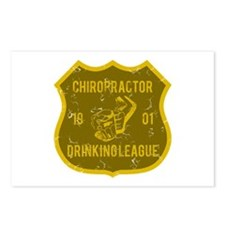 Chiropractor Drinking League Postcards (Package of