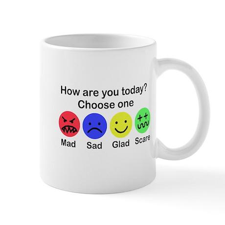 Mad,Sad,Glad & Scare Mug