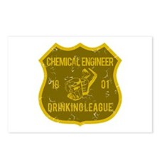 Chemical Engineer Drinking League Postcards (Packa