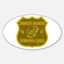 Chemical Engineer Drinking League Oval Decal