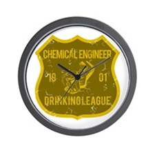 Chemical Engineer Drinking League Wall Clock