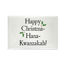 Happy Holiday Greeting Rectangle Magnet