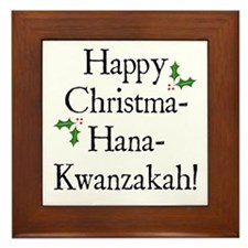 Happy Holiday Greeting Framed Tile