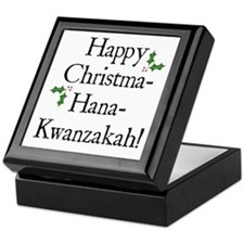 Happy Holiday Greeting Keepsake Box