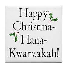 Happy Holiday Greeting Tile Coaster