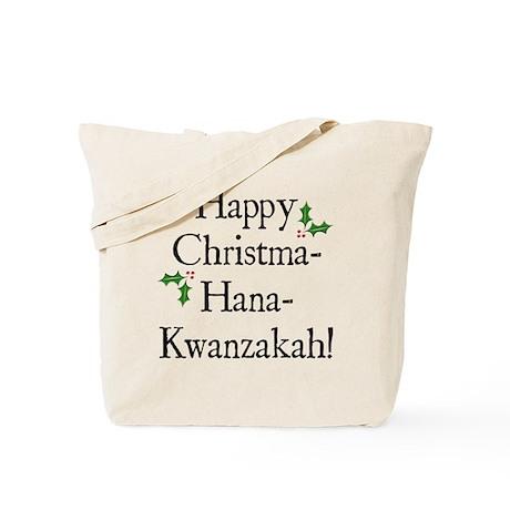 Happy Holiday Greeting Tote Bag
