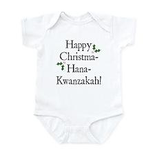 Happy Holiday Greeting Infant Bodysuit