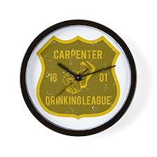 Carpenter Drinking League Wall Clock