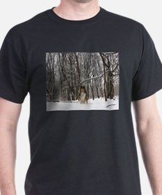Collie in Winter T-Shirt