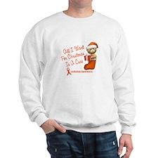 Bear In Stocking 1 (Leukemia) Sweatshirt