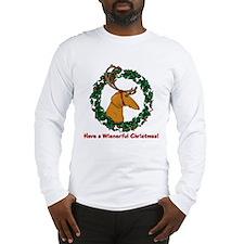 Red Weindeer Dacshund Long Sleeve T-Shirt