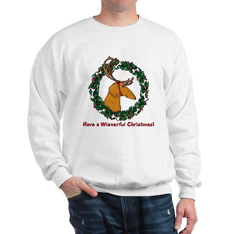 Red Weindeer Dacshund Sweatshirt