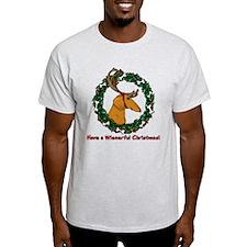 Red Weindeer Dacshund T-Shirt