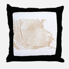 Yellow Lab (sketch) Throw Pillow